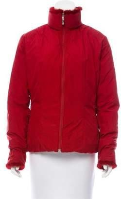 Moncler Reversible Mink Trimmed Jacket