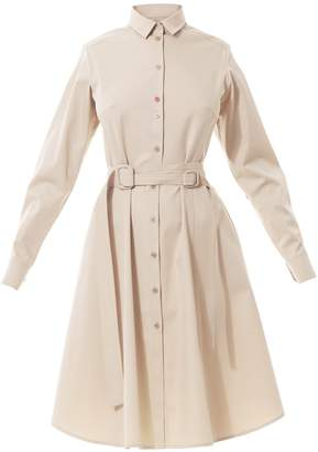 BEIGE Talented Shirtdress with Contrasting Heart Apliques