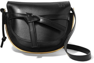 Loewe Gate Small Embellished Textured-leather Shoulder Bag - Black