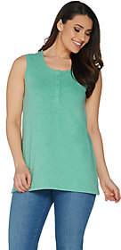 Denim & Co. Essentials Sleeveless Textured KnitHenley Top