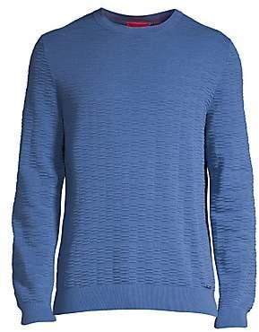 HUGO Men's Sigson Puckered Sweater