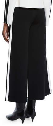 Veronica Beard Roland Cropped Sporty Wide-Leg Pants