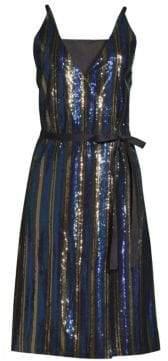Robert Rodriguez Sequin Wrap Dress