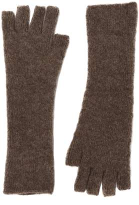 Isabel Benenato Fingerless Wool & Yak Blend Gloves