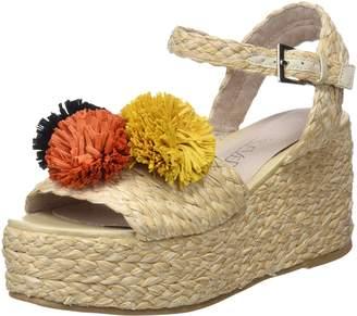 Sixty Seven Sixtyseven SixtySeven Women's Taike Platform Sandals Beige (Raffia Pu Natural C40450) 6 UK