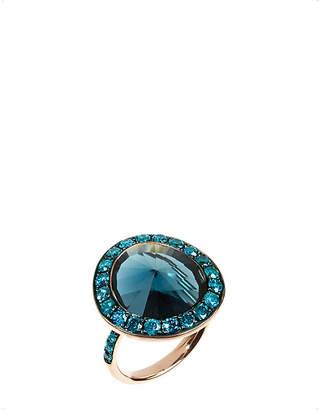 Rosegold Annoushka Dusty Diamonds 18ct rose-gold topaz and diamond ring