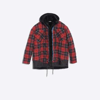 Balenciaga Layered jacket in denim, nylon and flannel
