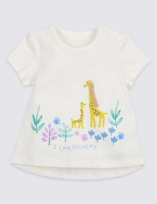 Marks and Spencer Pure Cotton I Love Mummy Top