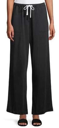 Neiman Marcus Majestic Paris for Soft Linen Drawstring Pants