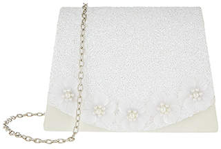 Monsoon Pearly Flower Glitter Bag