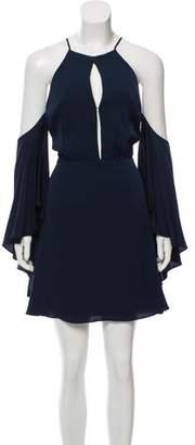 Milly Silk Off Shoulder Dress