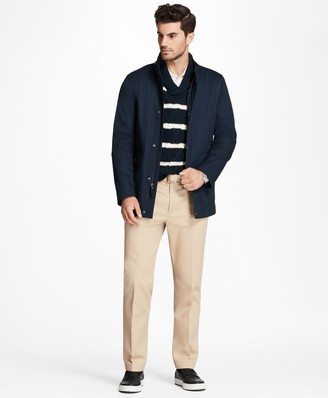 Brooks Brothers Water-Repellent Cotton Walking Coat