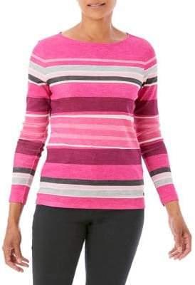 Olsen Multicolor Striped Cotton Tee