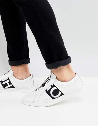 HUGO Reverse Logo Sneakers in White