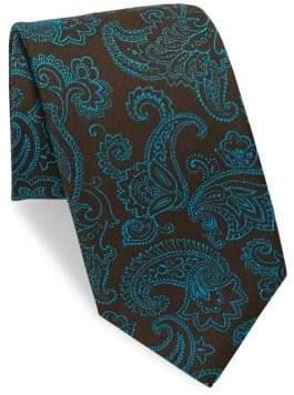 Charvet Paisley Silk& Linen Tie