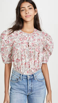 Rebecca Taylor Short Sleeve Falaise Top