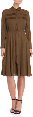 Nanette Lepore Nanette Horizontal Pintuck Shirt Dress