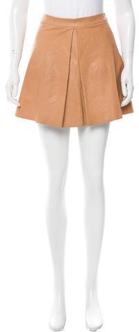 Alice + OliviaAlice + Olivia Leather Mini Skirt