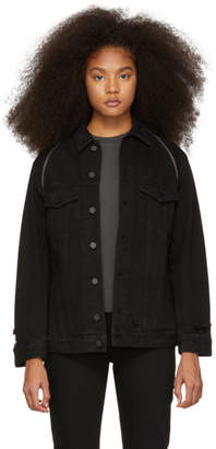 Alexander Wang Black Denim Daze Zip Jacket