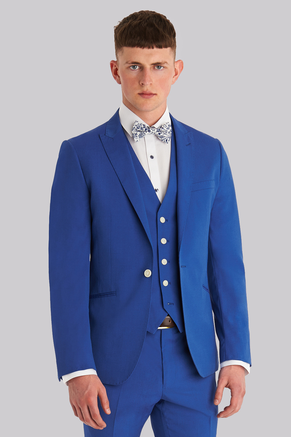 Moss London Slim Fit Azure Blue Suit