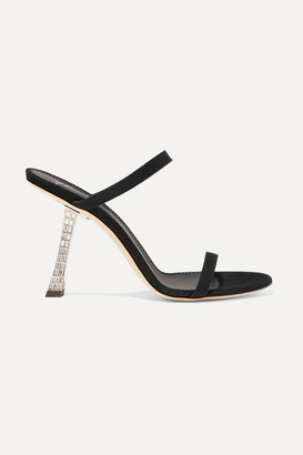84ccdd956ae6b Giuseppe Zanotti Crystal-embellished Suede Sandals - Black