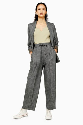 Topshop Womens Salt And Pepper Jogger Trousers - Monochrome