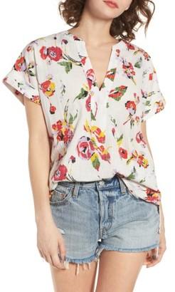 Women's Obey Desi Floral Print Tunic Top $52 thestylecure.com