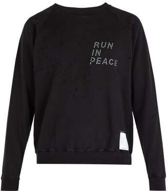Satisfy Distressed Cotton Sweatshirt - Mens - Black