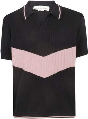 Golden Goose Ribbed Knit Polo Shirt