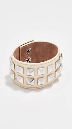 Marc Jacobs Wide Studded Leather Bracelet