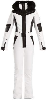 LACROIX Shine fur-trimmed bi-colour technical ski suit