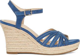 Liz Claiborne Womens Magenta Wide Width Heeled Sandals