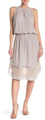 Ramy Brook Quinn Sheer Hem Midi Dress