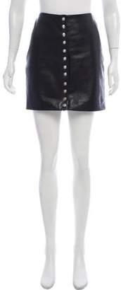 Versus Leather Mini Skirt