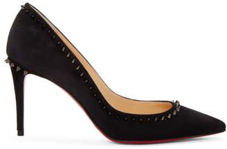 Christian Louboutin Black Suede Anjalina Heels