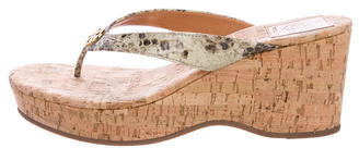 Tory BurchTory Burch Embossed T-Strap Sandals