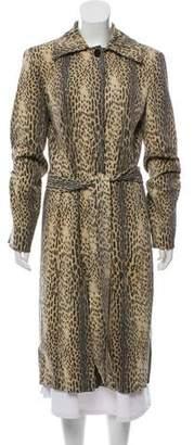 Just Cavalli Animal Print Long Coat
