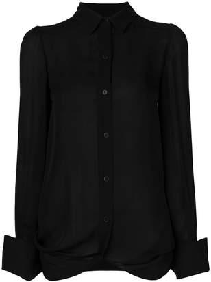 Plein Sud Jeans ruffled back shirt