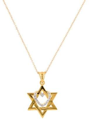 Reiss I. 14K Diamond Star of David Pendant Necklace yellow I. 14K Diamond Star of David Pendant Necklace