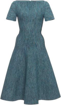 Bottega Veneta Stretch Knit Boatneck Dress with Intreccio Detail