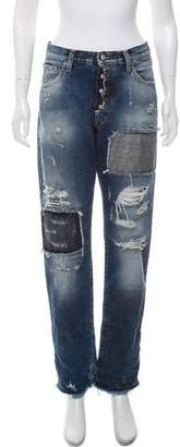 PRPS Distressed Mid-Rise Jeans