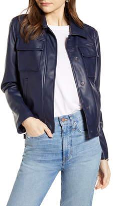 8bb256c66 Boxy Leather Jacket - ShopStyle