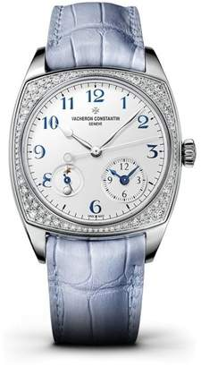 Vacheron Constantin 7805s/000g-b052 Harmony 18K White Gold Diamond 37mm x 46.6mm Watch $46,500 thestylecure.com