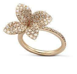 Pasquale Bruni 18K Rose Gold Secret Garden Pavé Diamond Four Petal Flower Ring