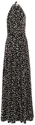 Raquel Diniz Giovanna Speckle Print Velvet Dress - Womens - White Black