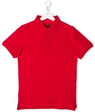 Tommy Hilfiger Junior logo short-sleeve polo shirt
