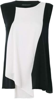 Fabiana Filippi colour block asymmetric drape blouse