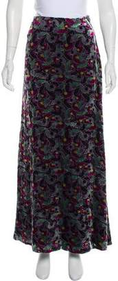 Diane von Furstenberg Velvet Maxi Skirt