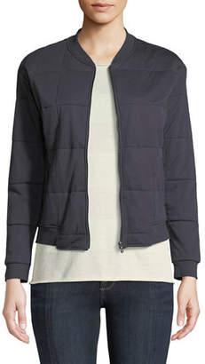 Neiman Marcus Majestic Paris for Quilted Zip-Front Bomber Jacket