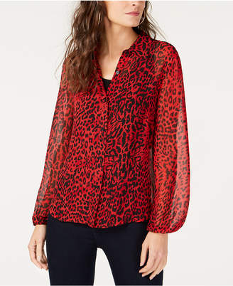 INC International Concepts I.N.C. Leopard-Print Shirt, Created for Macy's